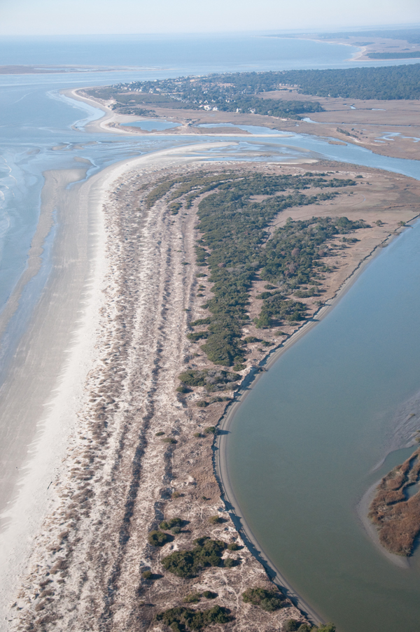 Kiawah Spit, aerial photography by Mary Edna Fraser