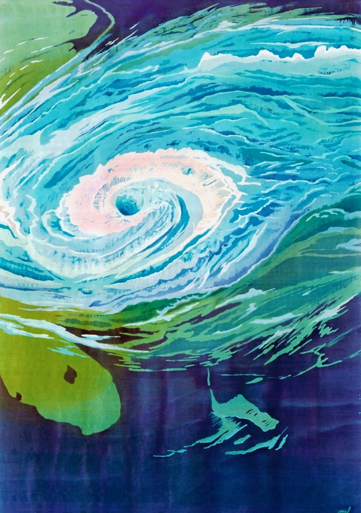 Hurricane Season 50_ x 36_ batik on silk, Mary Edna Fraser 1998 _22in copy