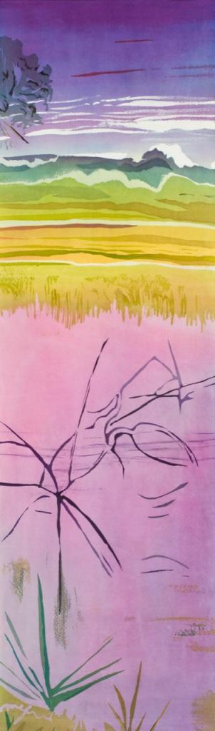 James Island Creek (SC) batik on silk, Mary Edna Fraser 52_ x 14_ 2009_22in copy 2