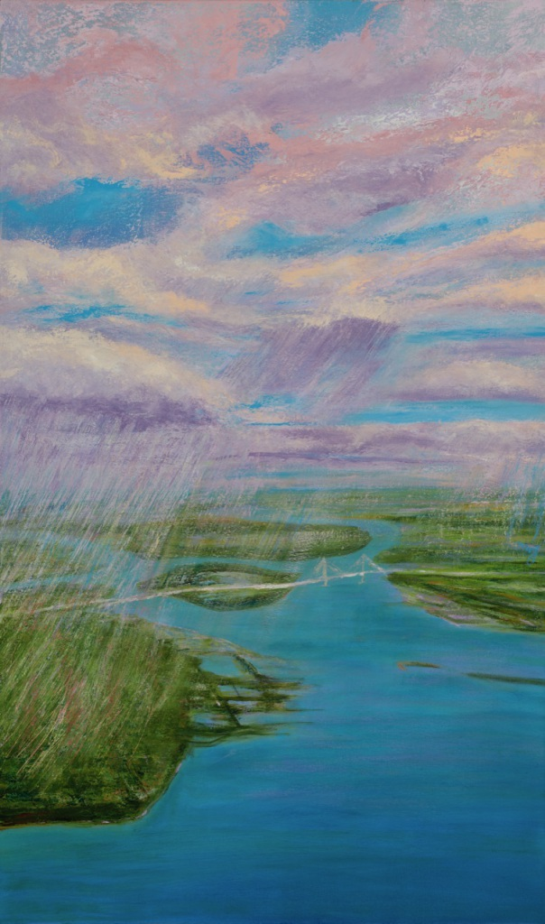 Rain Over Charleston 60_ x 36_ oil on canvas unframed Mary Edna Fraser 2020 copy